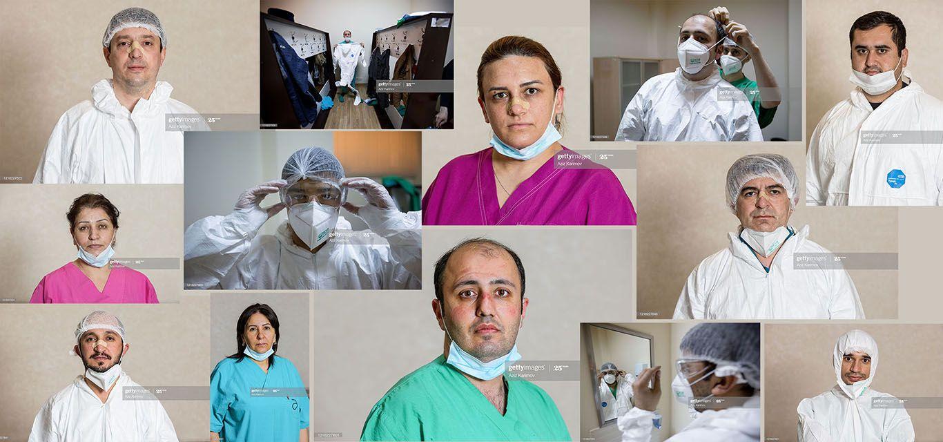 Koronavirusla mübarizə aparan həkimlərimiz – FOTO
