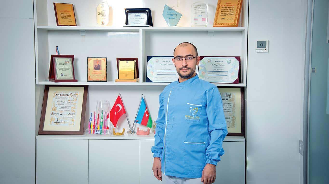 Phd. Dr. Vüqar Qurbanov: Sağlam dişlərə və gözəl gülüşə bizimlə sahib olun!